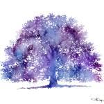 """""""oak tree purple"""" by k9artgallery"""
