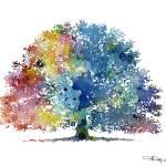 """oak tree abstract"" by k9artgallery"