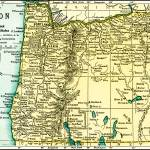 """Oregon Antique Map 1891"" by WilshireImages"