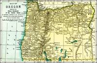 Oregon Antique Map 1891