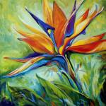 """BLESSED DAY Bird of Paradise"" by MBaldwinFineArt2006"