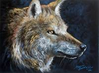 THE WOLF in PASTEL