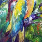 """MACAW PAIR 2412"" by MBaldwinFineArt2006"