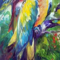 MACAW PAIR 2412 by Marcia Baldwin