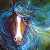 BLUE MOON DUST EQUINE by Marcia Baldwin