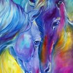 """LOVING SPIRITS Color My World with Horses"" by MBaldwinFineArt2006"