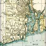 """Rhode Island Antique Map 1891"" by WilshireImages"