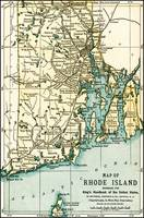Rhode Island Antique Map 1891