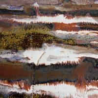 22. v1 Rustic Brown, Red and White Abstract