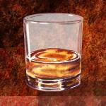 """Whiskey Glass Decorative Painting"" by IrinaSztukowski"