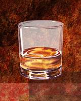 Whiskey Glass Decorative Painting