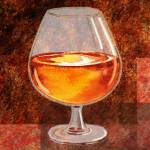 """Brandy Snifter Decorative Painting"" by IrinaSztukowski"
