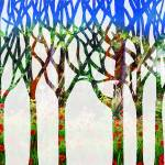 """Summer Landscape Abstract Forest Watercolor"" by IrinaSztukowski"