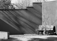 Bench Black and White