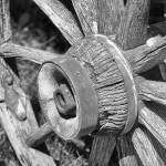 """Old wooden wheel and hub (1 of 1)"" by memoriesoflove"