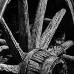 """Wagon Wheel in black and white"" by memoriesoflove"