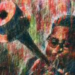 """DIZZY GILLESPIE Portrait Contemporary Art JAZZ"" by deactor"