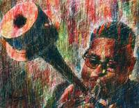 DIZZY GILLESPIE Portrait Contemporary Art JAZZ