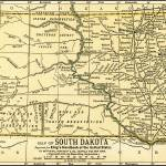 """South Dakota Antique Map 1891"" by WilshireImages"