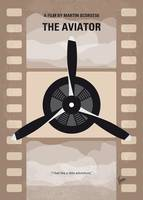 No618 My The Aviator minimal movie poster