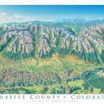 """Chaffee County"" by jamesniehuesmaps"
