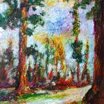 """Redwood Forest Impressionist Oil Painting"" by GinetteCallaway"