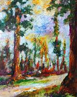 Redwood Forest Impressionist Oil Painting