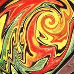 """Vivid Vortex Abstract Decor by Irina Sztukowski"" by IrinaSztukowski"