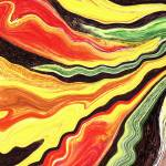 """Vivid Color Waves Abstract by Irina Sztukowski"" by IrinaSztukowski"