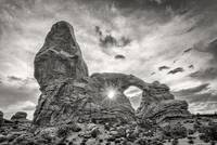 Sunset at Turret Arch BW