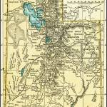 """Utah Antique Map 1891"" by WilshireImages"
