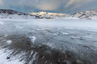 Frozen Lake with mountains