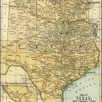 """Oklahoma and Texas Antique Map 1891"" by WilshireImages"