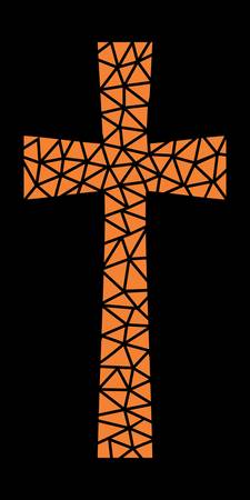 Mosaic Cross in Orange