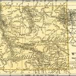 """Wyoming Antique Map 1891"" by WilshireImages"