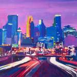 """Minneapolis Skyline at Night Minnesota"" by arthop77"