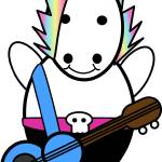 """Unicorn Kawaii Punk Bassist"" by ValeriesGallery"