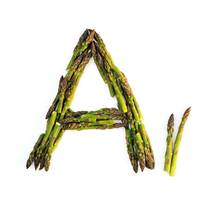 Kitchen Alphabet. Letter A.