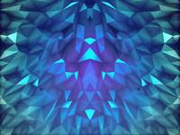 Deep Blue Collosal Low Poly Triangle Pattern -  Mo