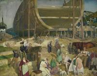 GEORGE WESLEY BELLOWS, (1882 - 1925), SHIPYARD SOC