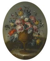 The Pseudo-Guardi A PAIR OF STILL LIFES OF ROSES,