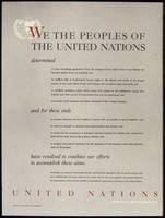 UNITED NATIONS - PREAMBLE TO THE CHARTER OF THE UN