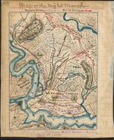 Map of the night's march after Battle of Malvern H