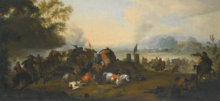 Dutch School, 17th century A CAVALRY SKIRMISH