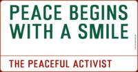 Inspirational Messages - PEACE BEGINS WITH A SMILE