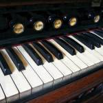 """Organ Keyboard Closeup"" by susansartgallery"