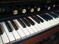 Organ Keyboard Closeup