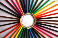 Circle of Pencil Crayons