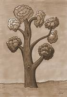 My tree for courage - sepia version