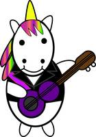 Unicorn Kawaii Punk Guitarist